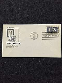 US 1964 JF Kennedy FDC Stamp