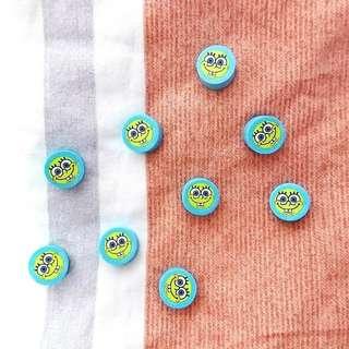 🌈 spongebob mini erasers