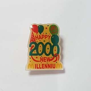 Happy 2000 New Millennium, McDonald's Singapore Pin