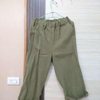 🚚 正韓綠寬褲
