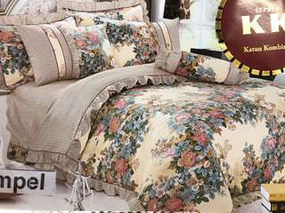 Bed Cover dan Sprei RUMBAI FULL COTTON Gardenia