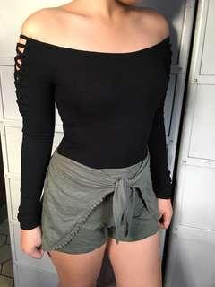 Bershka bodysuit black