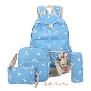 4-in-1 Backpack Set (Sky Blue)