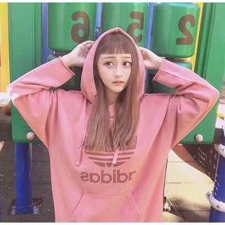 🚚 💗《現+預》代購 Adidas 愛迪達 三葉草 女款運動休閒 連帽衛衣 粉色長袖帽t