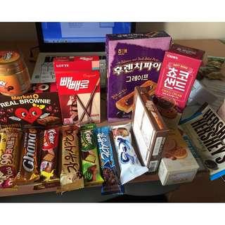 【韓國】各類餅乾、零食、巧克力