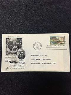 US 1964 Nevada Statehood FDC Stamp