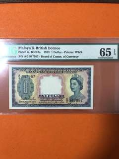 Malaya and British Borneo $1