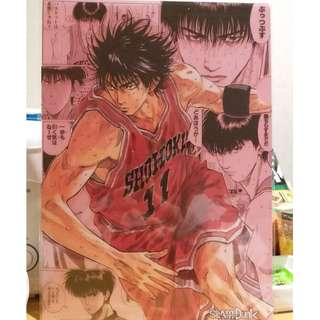 全新 週刊少年 創刊50週年 JUMP展 Slam Dunk 男兒當入樽 Folder File Made in Japan