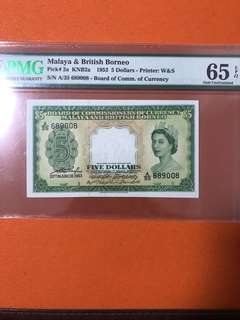 Malaya and British Borneo $5