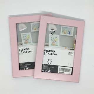 [中古] 一套兩件 IKEA 粉紅色 相框 畫框