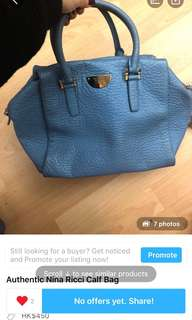 Authentic Nina Ricci bag