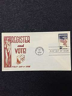 US 1964 Register & Vote FDC Stamp