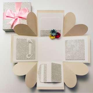 Grey Polka Dots Explosion Gift Box