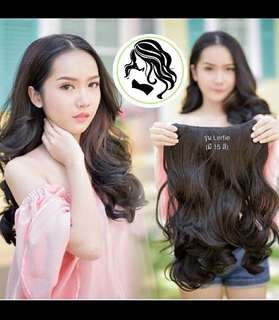 HAIRCLIP BIG LAYER CURLY BLACK HITAM