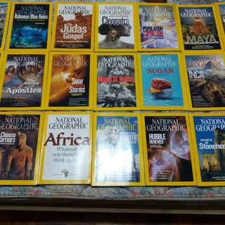 National Geographic set of 21