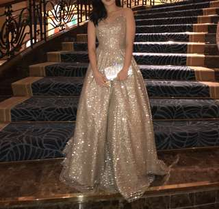 Glittery Ball Gown for rent or sale