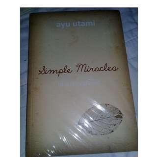 Ayu utami - simple miracles new original with price label