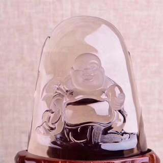 Natural tea crystal maitreya.