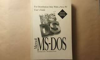 Microsoft MS-DOS User Guide