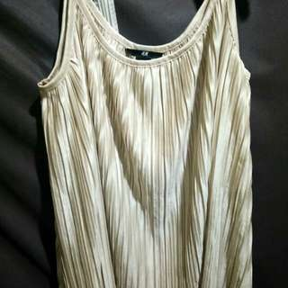 H&M gold pleated top