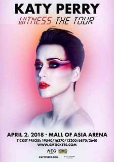 Katy Perry Witness Tour VIP Tickets
