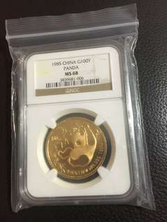 1985 China Panda MS68, Gold, 1 oz