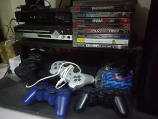Ps3 Slim with 3 controllers and 6 games