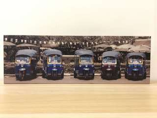 Canvas-printed panorama of tuk-tuk's
