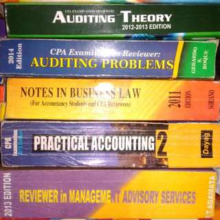 ACCOUNTING TEXTBOOKS AND REVIEWERS (P 50 to P 250)