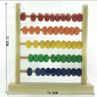 Mini abacus / wooden counting beads