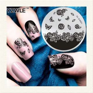 1 Piece Various Arabesque Flower Pattern Nail Art Stamp Template Image YZWLE Nail Stamping Plate