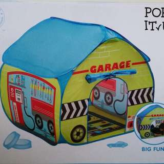 Fun2Give Pop-it-Up Garage Tent with Road Playmat