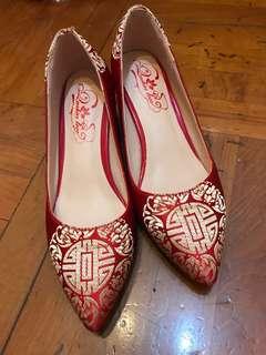 結婚繡花鞋(新淨,穩陣,只穿過一次)