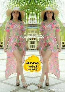 Ws : 370  Anne longback dress with short  Fit small to semilarge