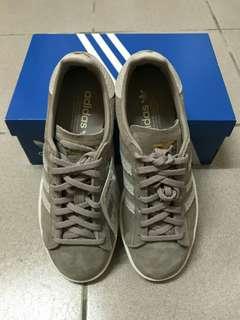 adidas紫灰色經典運動鞋(全新附鞋盒)