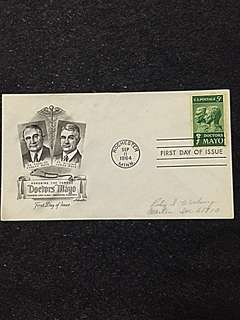 US 1964 Doctors Mayo FDC Stamp