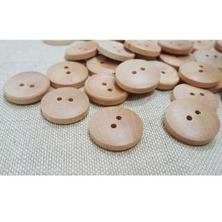 WB12028 - 22mm plain design wooden buttons, wood buttons (10 pices)  #craft