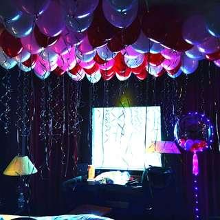 Wedding proposal balloon surprise