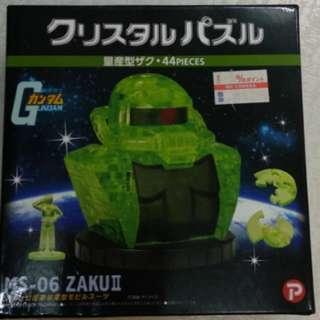 2013 日版 Crystal Puzzle MS-06 Zaku II Gundam series 渣古  (已砌)立體 拼圖 Beverly 積木 (只限天水圍西鐵站面交)