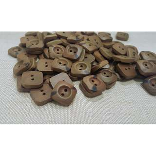 WB12019 - 15mm square design wooden buttons, wood buttons (10 pieces)  #craft