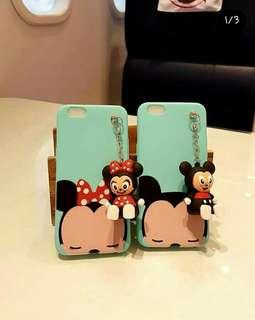 Softshell Micky Minnie + gantungan mini doll stand