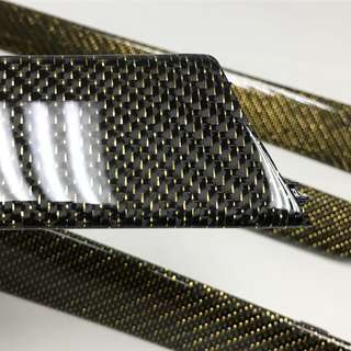 Reflective gold Carbon fiber fabric 100% original cloth