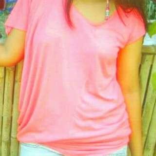 Neon Pink Asymmetrical Top/ Party Dress