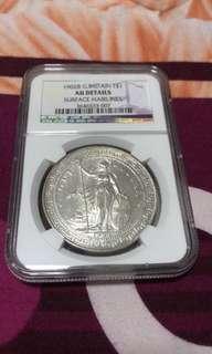 1902B Trade Dollar AU Details