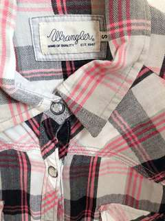 Wrangler Pink Plaid Top