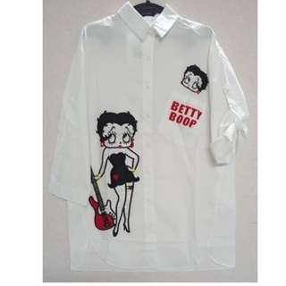 🚚 BETTY BOOP 白色襯衫