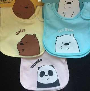 We Bare Bear baby Bibs