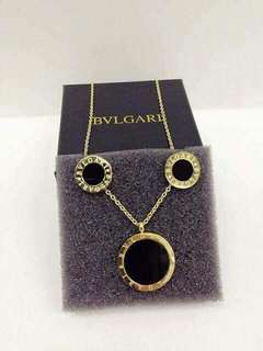 Bvlgari Set Necklace & Earrings Stainless