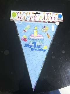 1st Happy birthday Banner