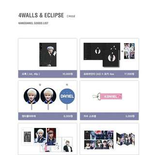 KANG DANIEL 4walls x Eclipse Exhibition Goodies
